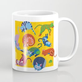 Cats and a Mouse sleeping in the Sun Coffee Mug