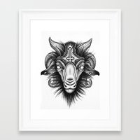 goat Framed Art Prints featuring Goat by Alexander Kukinov