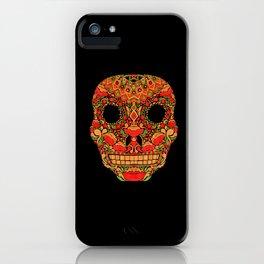 Skull in Khokhloma Style iPhone Case