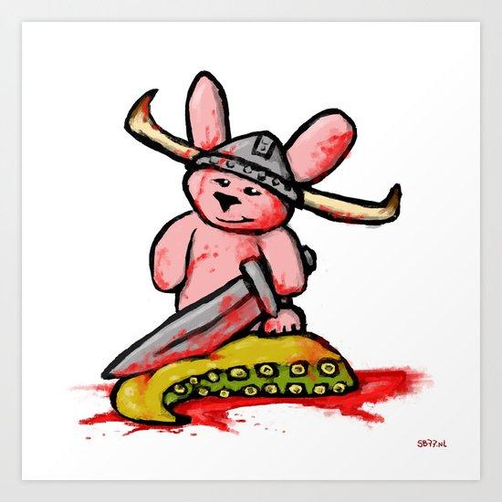 Bunny the Krakenslayer Art Print