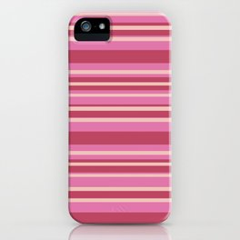 Pink & Yellow Stripes iPhone Case