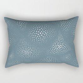 Gradient dot doodle print Rectangular Pillow