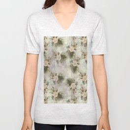 TROPICAL FLOWER Unisex V-Neck