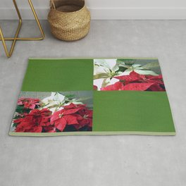 Mixed color Poinsettias 3 Blank Q5F0 Rug