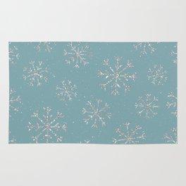 Silver snow Rug