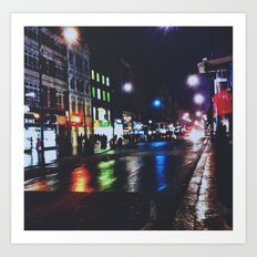 Oxford Circus in the snow Art Print