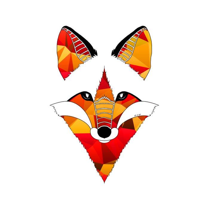 Fire Fox Duvet Cover