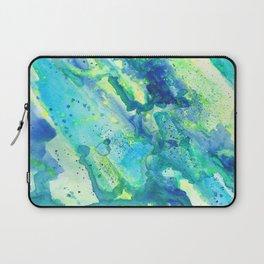 Caribbean Blues Abstract Laptop Sleeve