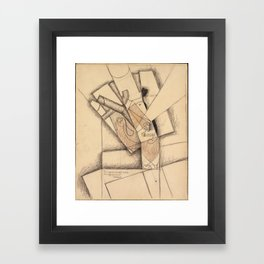 Juan Gris (1887–1927), The Smoker Framed Art Print