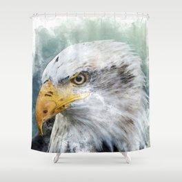 Bald Eagle Haliaeetus Shower Curtain