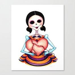 Dia de los Muertos: Stitch by Stitch Canvas Print