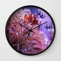 nemo Wall Clocks featuring Nemo by Joanna Dickinson