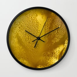 Beer beverage glass yellow cup Wall Clock