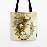 architect Tote Bags featuring The Architect by Joshua Kulchar