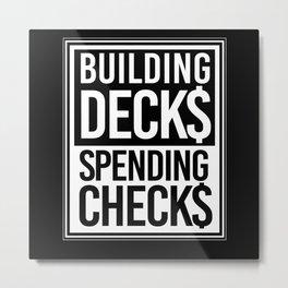 Building Decks Trading Card Collecting Metal Print