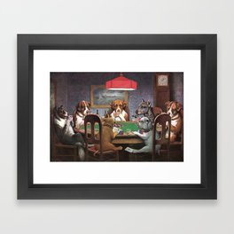 Dogs Playing Poker A Friend in Need Painting Framed Art Print