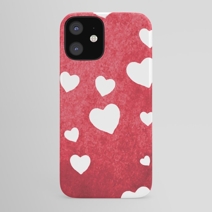 Red Hearts iPhone Case