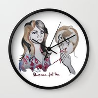 tote bag Wall Clocks featuring Blood Red Shoes Tote bag by Icillustration