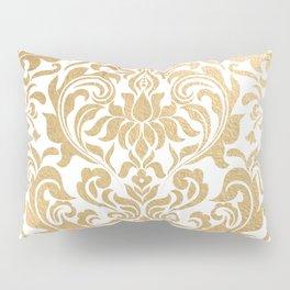 Gold foil swirls damask #12 Pillow Sham