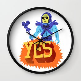 Yes Skeletor! Wall Clock