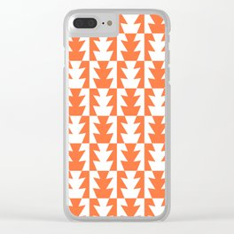 Art Deco Jagged Edge Pattern Orange Clear iPhone Case