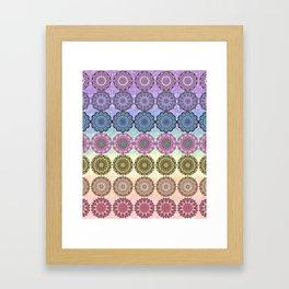 Chakra Mandalas Framed Art Print