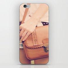 Vintage Leather Bag  iPhone & iPod Skin