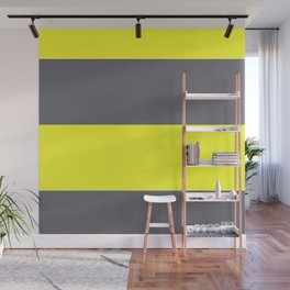 yellow and gray horizontal stripes Wall Mural