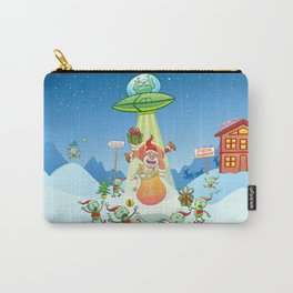 Santa Claus Abducted by a UFO just before Christmas Carry-All Pouch