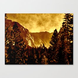 Mountains on Fire in California Canvas Print