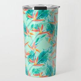 Birds Of Paradise Mint Travel Mug