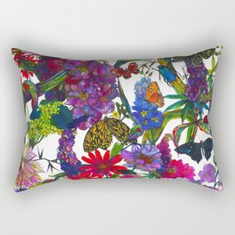 Botanical Butterflies Rectangular Pillow