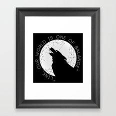 Twilight Wolf - White Framed Art Print