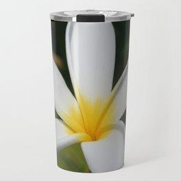 A Single Plumeria Flower Macro  Travel Mug