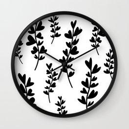 Plant doodles heart Wall Clock