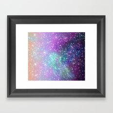 Lilac space 040715 Framed Art Print
