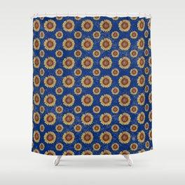 Swirly Sunflower Shower Curtain