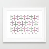 pastel goth Framed Art Prints featuring Pastel Goth | Grunge by Glitterati Grunge