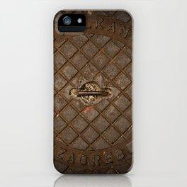 manhole cover artistic pattern iPhone Case