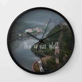 A different view of The Great Wall of China Wall Clock