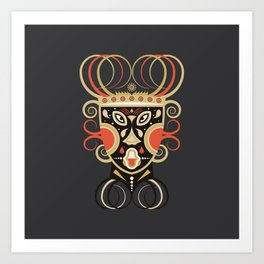 Ceremonial Tribal Mask Art Print