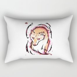 Chaotic Wolf Rectangular Pillow