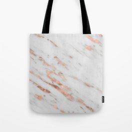 Lenola - minimalist rose gold gleam marble Tote Bag