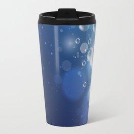 Illustraiton of underwater background with light rays Travel Mug