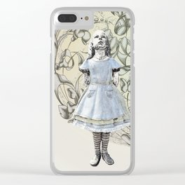 Alice,White Rabbit  and a Wonderland Clear iPhone Case