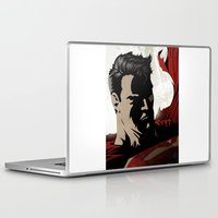man of steel Laptop & iPad Skins featuring MAN OF STEEL by Taylor Callery Illustration
