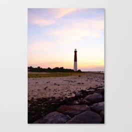 Barnegat Lighthouse Sunset Canvas Print