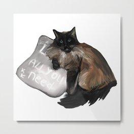 Neva masquerade cat drawing Metal Print
