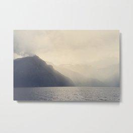 Foggy Fjord, North Sea Metal Print