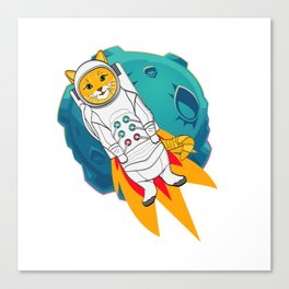 space cat by diegoramonart Canvas Print